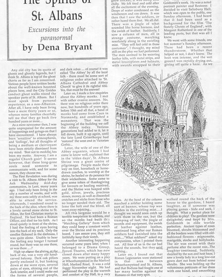 Hertfordshire Countryside article by Dena Bryant-Duncan, The Spirits of St Albans. Picture: Mark Bry