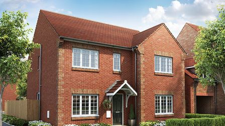 CGI of a Marlborough five-bed detached property at Kingsbury Gardens. Picture: Charles Church