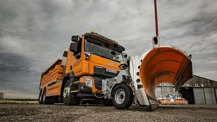 Gritter lorries will be out in force in the eastern region