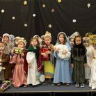 The children of Little Robins Pre-School, who performed 'Toby's Christmas Drum' for the audience fro