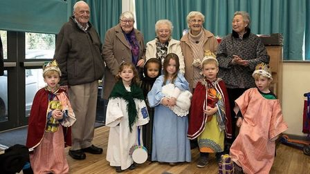 The children of Little Robins Pre-School with members of the audience from the Armoral Hill Day Cent