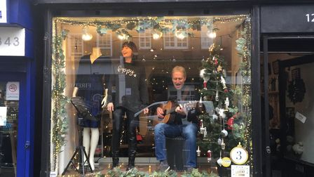 Chloe James' window display featured live music from McClaren Wall.