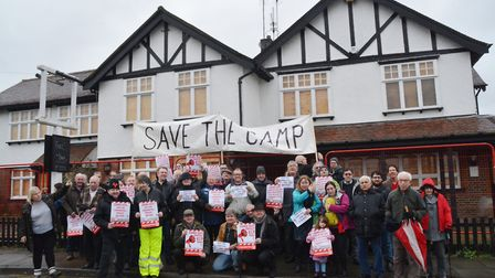 CAMRA demonstration outside The Camp pub, which closed in 2015. Picture: Kevin Lines.
