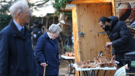 Visitors to the St Albans Christmas Market in the Vintry Gardens. Picture: DANNY LOO