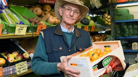 Barry Hamilton is retiring after more than 40 years as a greengrocer. Picture: ARCHANT