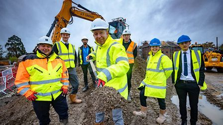 L-R Paul Kingsbury, Contracts Manager, CALA Homes; Lewis Syratt, Technical Co-ordinator, CALA Homes;
