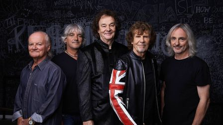 The Zombies with the late Jim Rodford on the left. The band, formed in St Albans in the 1960s, will