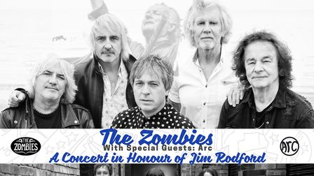 The Zombies will play a concert in St Albans in memory of Jim Rodford.