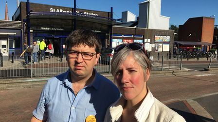 Liberal Democrat candidate for St Peter's ward Will Tucker with Liberal Democrat candidate for the S
