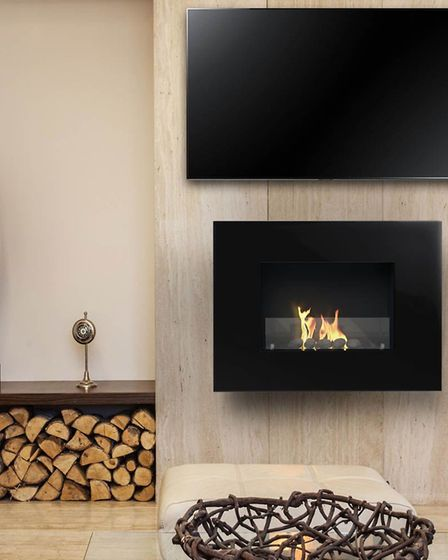 Arlington wall-mounted fireplace, RRP £399.99, from imaginfires.co.uk. Picture: PA/Imaginfires