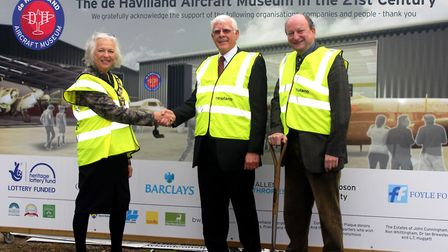 Hertsmere Mayor Cllr Brenda Blatten officially launched the new hangar project at de Havilland Aircr