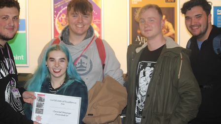 Winning team for Clearest Message. Picture: Christopher Frith (Oaklands College)