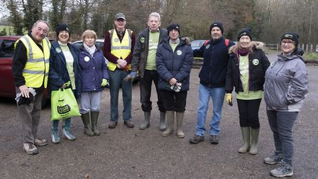 St Albans United Synagogue members observing Mitzvah Day by cleaning up the River Ver. Picture: St A