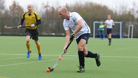 Harpenden men V Witham - Russell Timms in action for Harpenden.Picture: Karyn Haddon