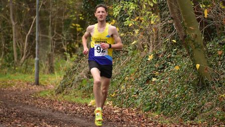St Albans Striders' Steve Buckle at the Hatfield 5. Picture: Richard Underwood