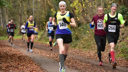 St Albans Striders' Jen Conway at the Hatfield 5. Picture: Richard Underwood