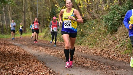 St Albans Striders' Deb Steer at the Hatfield 5. Picture: Richard Underwood