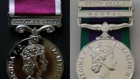 Two of the medals that were stolen