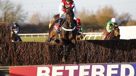 Josses Hill on the way to victory in the Peterborough Chase at Huntingdon Racecourse in 2016.