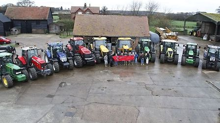 Last year's charity tractor run which went through St Albans. Picture: Karen Deacon