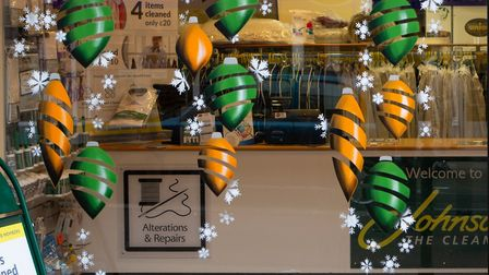 Shop windows have been given Christmas makeovers in Royston. Picture: Royston First