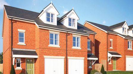 CGI of how the three-bed homes at Waverley Green, St Albans, will look. Picture: Matthew Homes