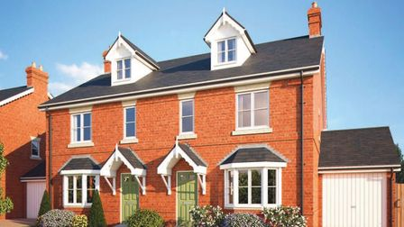 CGI of how the four-bed homes at Waverley Green, St Albans, will look. Picture: Matthew Homes