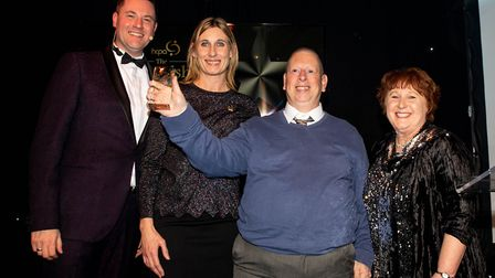 Stevie Lane from Earthworks St Albans received a Hertfordshire Care Award. Picture: Hertfordshire Ca