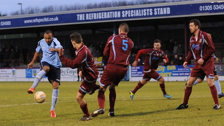 James Comley scored in a 3-0 win on St Albans City's last visit to the Weymouth's Wessex Stadium.
