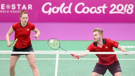 Marcus Ellis is also partnering with Lauren Smith in the mixed doubles in Glasgow. Picture: DANNY LA