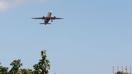 A Wizz Air plane takes off from Luton Airport. Picture: DANNY LOO