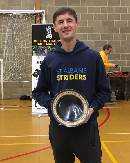 St Albans Striders' Steve Buckle equaled his personal best when he came second at the Bedford Harrie