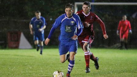 Daniel Westmore, who has just moved to Colney Heath from London Colney, twice went close against Edg