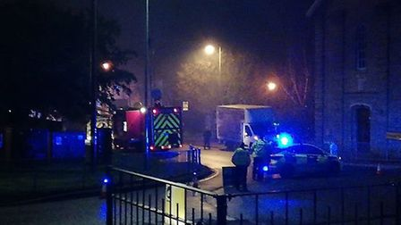 A fire has broken out at the St John the Baptist Church in Royston: Gemma Rose