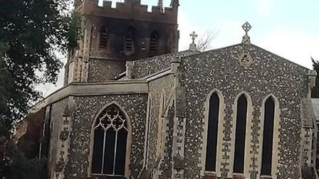 Police are appealing for witnesses to the blaze at St John the Baptist Church in Royston. Picture: G