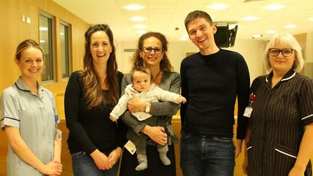 Baby Leo got to meet Consultant Obstetrician, Erika Manzo