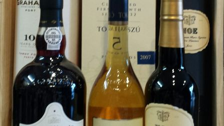 A selection of digestifs available in gift boxes.