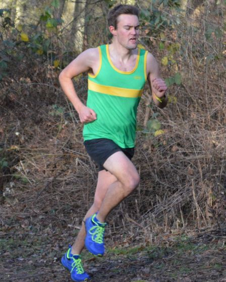 Hunts AC man Jamie Hall was runner-up in the senior event.