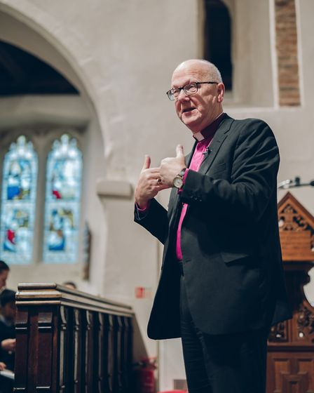 A service was held at St Michael's Church to celebrate the expansion and archaeological findings at