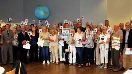 Save the Cabinet campaginers, pictured after the planning meeting where NHDC refused permission to t