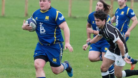 Tommy Newman was one of the try-scorers for St Ives as they lost at Bugbrooke. Picture: PAUL COX