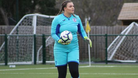 Goalkeeper Kira Markwell starred as St Ives Town Ladies triumphed against Newmarket Town Ladies. Pic