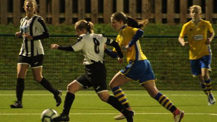 Hannah Seymour-Shove hit a classy second goal for St Ives Town Ladies against Newmarket Town Ladies.