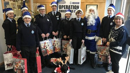 Volunteer Police Cadets taking part in Operation Christmas Cop 2018. Picture: Herts police