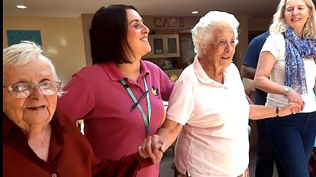 Joe Rose joined residents of Margaret House residential and dementia care home for the video of his