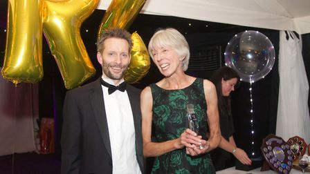 St Albans Striders' Graham Smith and Deirdre Heydecker at the club's annual presentation dinner.