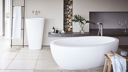 Free and easy: Baths like these are a common feature in hotel rooms which often integrate them into