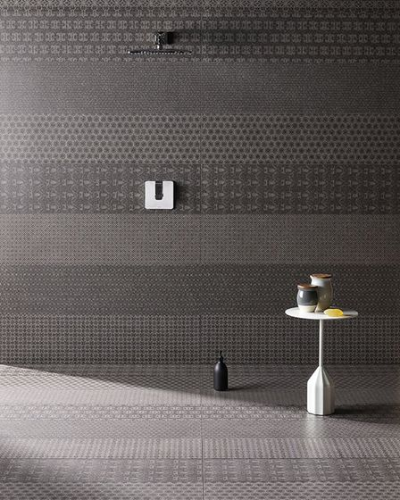 Wet room: This shower has that walk-in feel, thanks to the Domus 'Cover' tiles, one of designer Patr