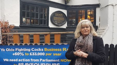 Anne Main visits city inns with Save St Albans Pubs.