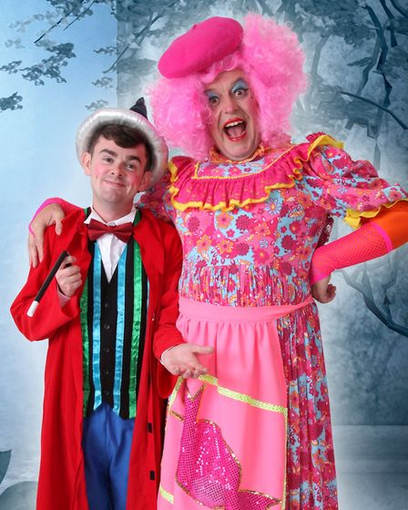 Merlin and Mme Fromage from Beauty and the Beast at the Rhodes Arts Complex, Bishop's Stortford